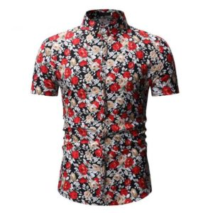 Chemise floral manches courtes mode