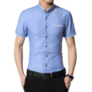 Chemise slim manches courtes tendance mode