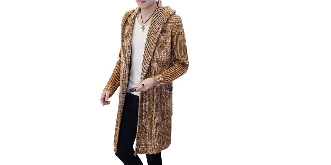 Cardigan capuche homme mode 2019