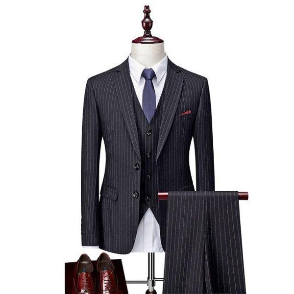 Costume homme rayé tendances
