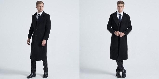 Manteau long homme tendance mode