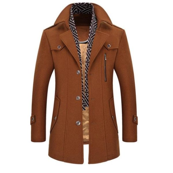 Trench laine homme pas cher