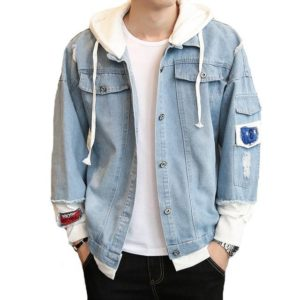 Veste en jean hip hop mode
