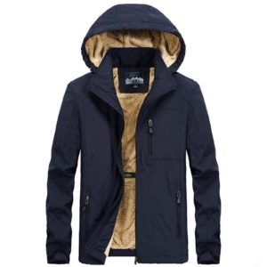 Manteau à capuche fourrure mode