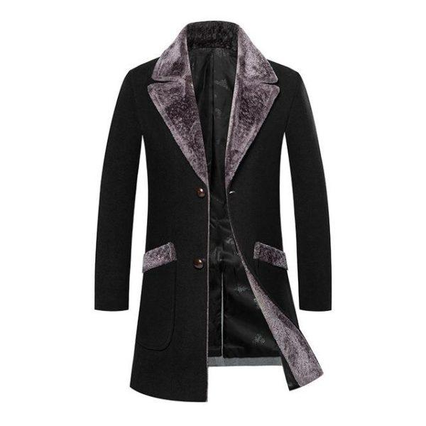 Manteau en laine homme tendance
