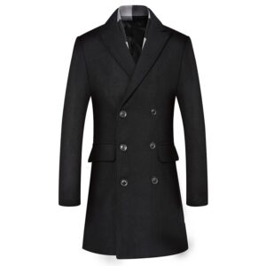 Trench homme long tendance