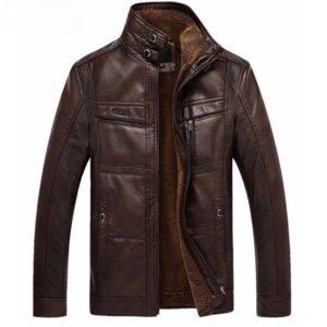 Veste cuir hiver homme tendance