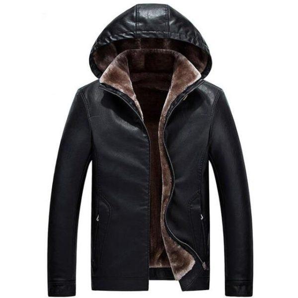 Blouson cuir chaud homme mode