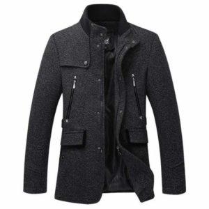 Manteau de laine homme pas cher