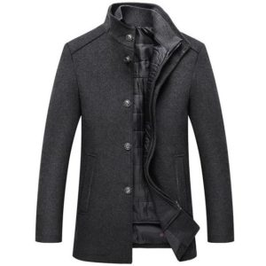 Manteau en laine chaud mode
