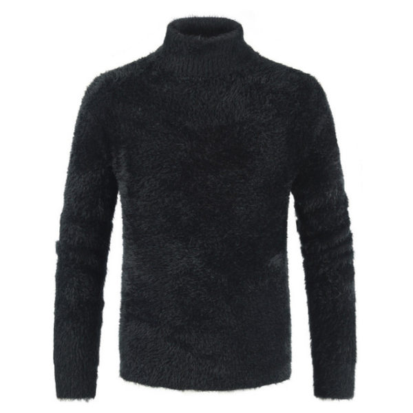 Pull col haut homme