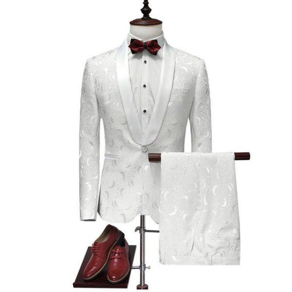 Costume blanc slim fit pas cher