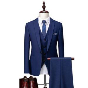 Costume homme marié bleu tendance