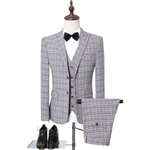 Costume homme 3 pieces gris mode 2021
