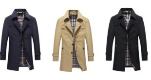 Trench coat homme mode