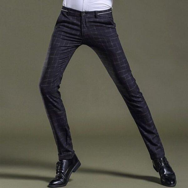 Pantalon à carreaux chic