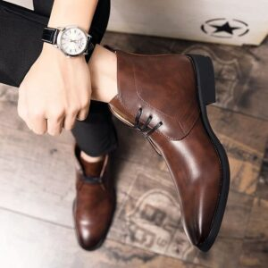 Boots homme cuir luxe